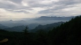 上野村 スーパー林道からの眺め(くもり)