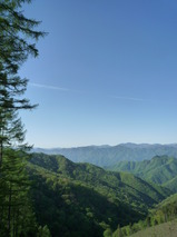 上野村 スーパー林道からの眺め