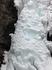 氷瀑 中止の滝 近接