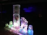 氷像とイルミネーション